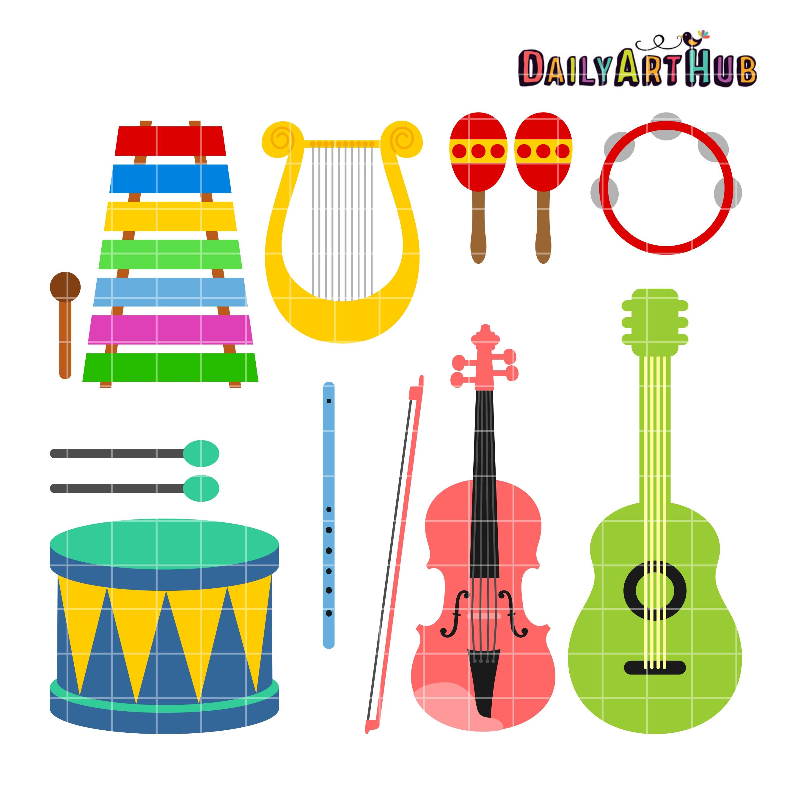 Musical Instruments Clipart Musical Instruments Clip Art 2664 x 2670