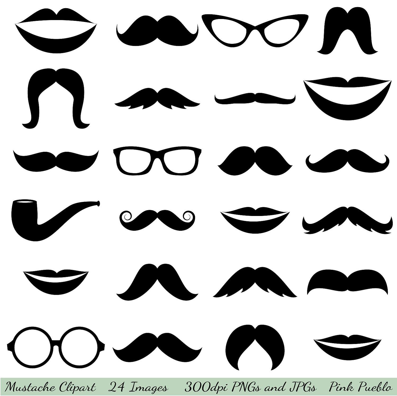 Mustache Clipart Clip Art Glasses Clipart Clip Art By Pinkpueblo