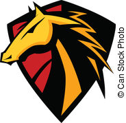 ... Mustang Stallion Graphic Mascot Ima - Graphic Mascot Icon of.