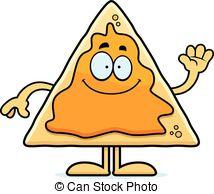 Nacho Smiling Clip Artby cthoman9/2,229; Cartoon Nachos Waving - A cartoon illustration of a nacho.