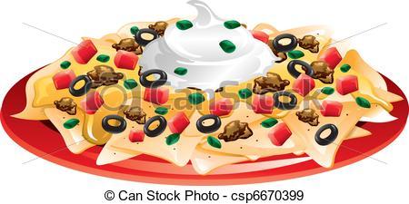 ... Nachos Supreme - Illustration of a nachos supreme