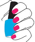 Nail manicure salon sign u002 - Nail Salon Clip Art
