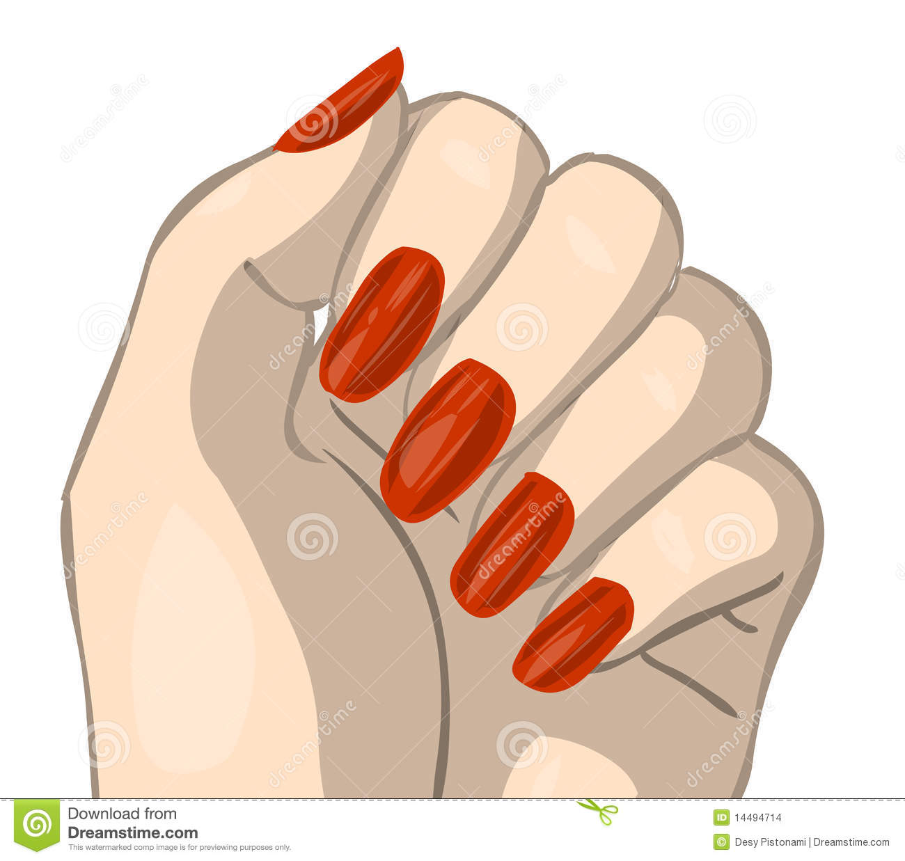Fingernail Clip Art Nail Idea