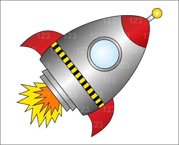 Nasa Spaceship Clipart Red .