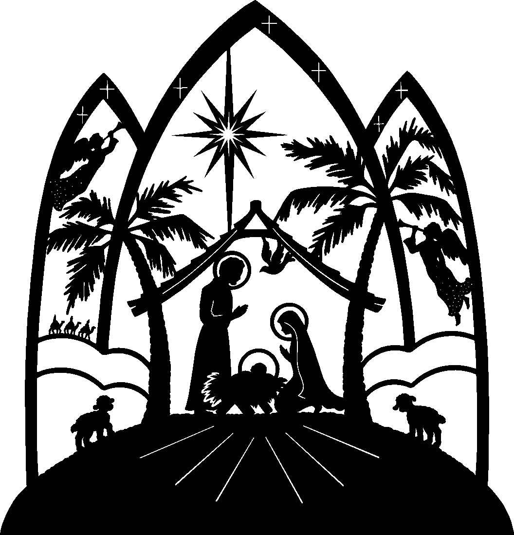 Nativity Clipart Black And ..
