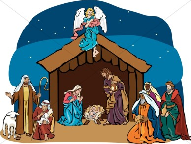 Nativity clipart clip art .