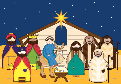 Nativity Scene with Characters .