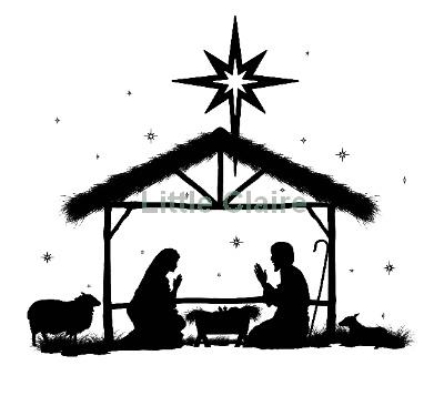 Nativity silhouette, Christmas .
