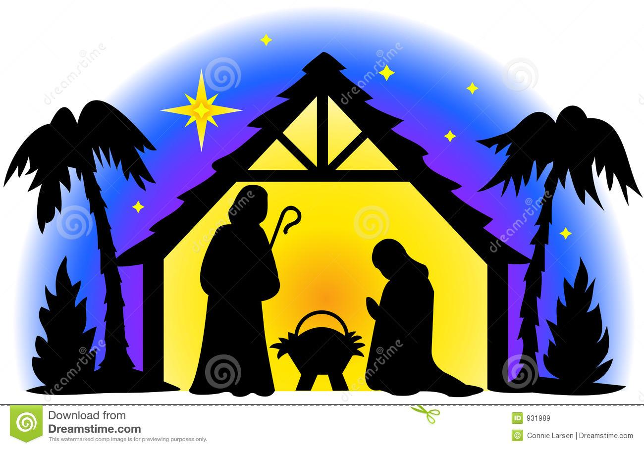 Nativity silhouette, .