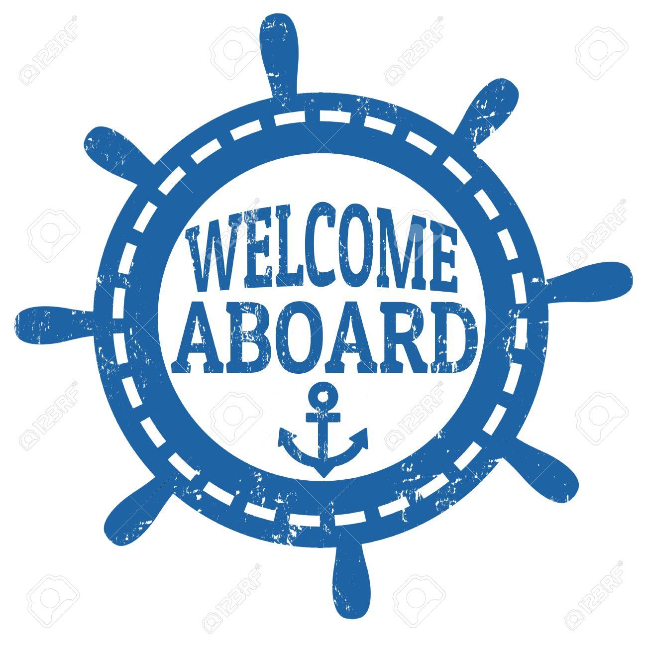 Nautical Welcome Aboard .
