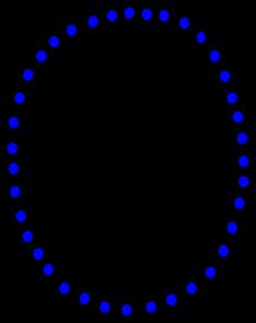 Necklace Blue Beads Clip Art