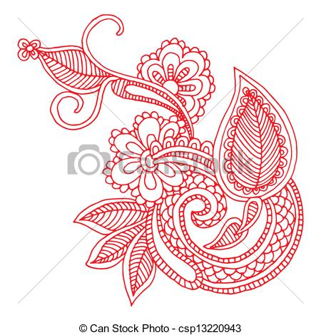 Neckline embroidery design .