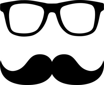 Nerd Glasses With Mustache Free Clipart Images