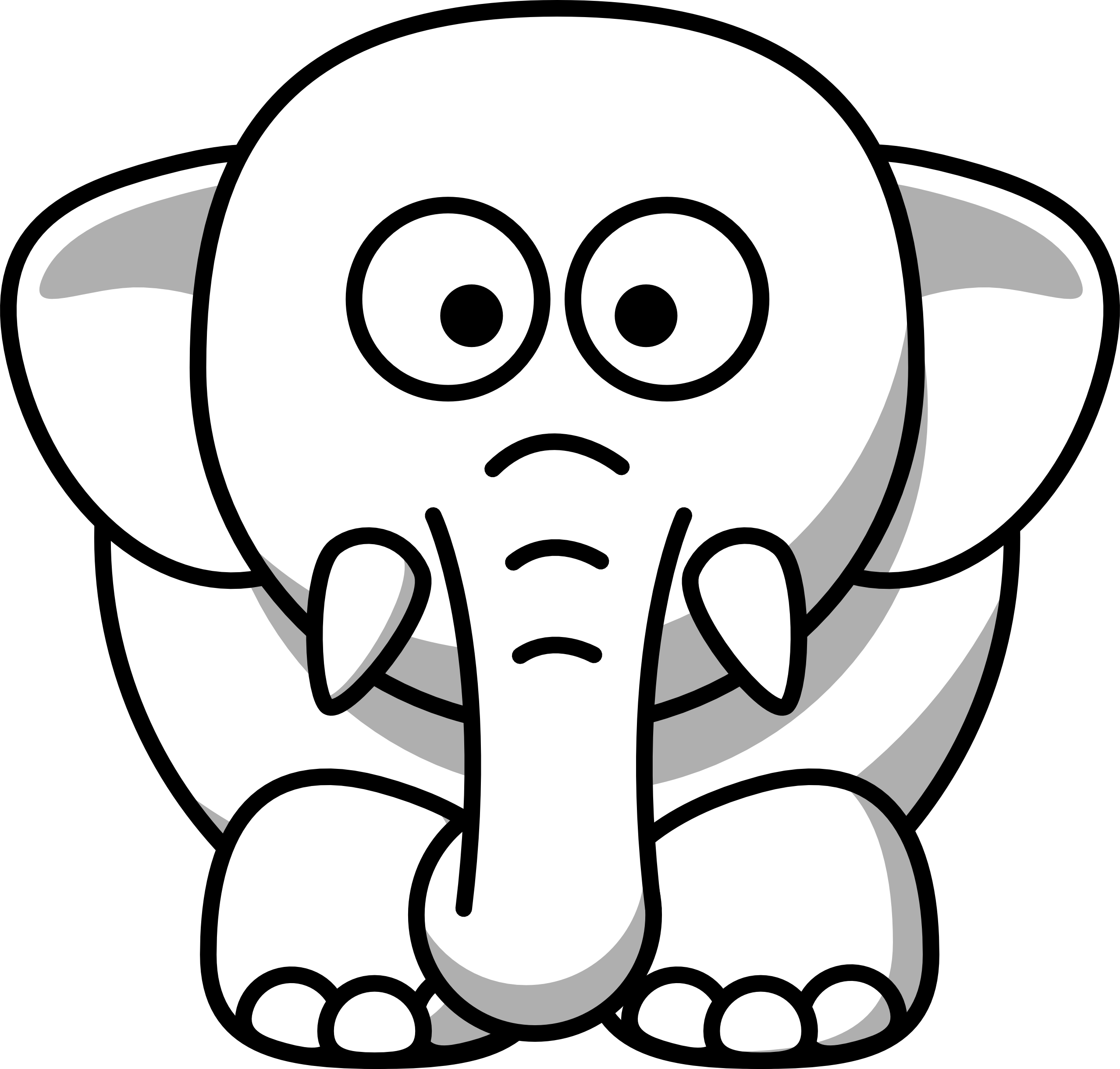 Net Clipart Black And White Elephant Copy Black White Line Art