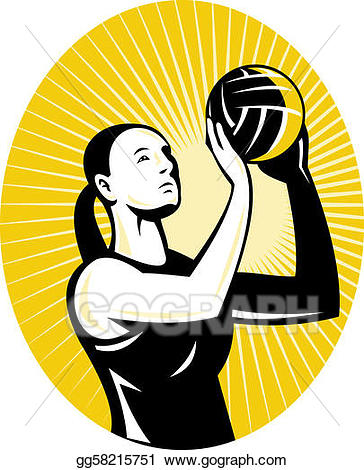 netball player goal shooter
