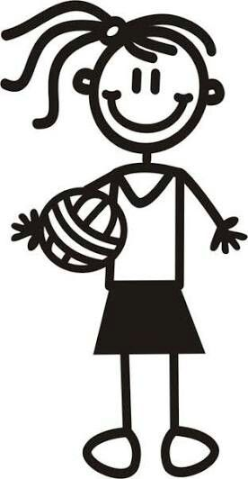 Netball, Stick Figures, Volleyball, Cami, Colouring, Sport, Happy Family,  Young Women, Families