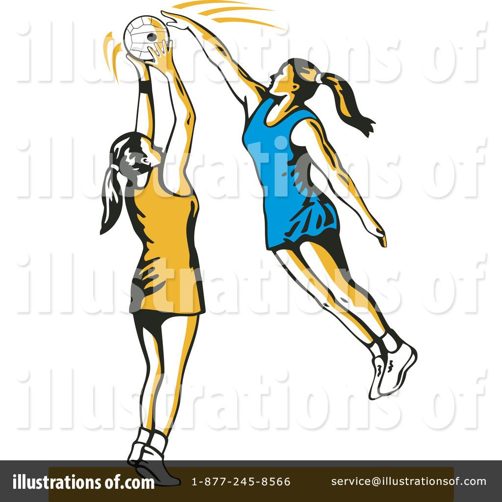 Royalty-Free (RF) Netball Clipart Illustration #1145642 by patrimonio