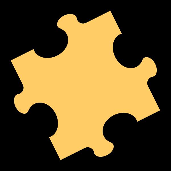 Never Ending jigsaw Puzzle Piece SVG Vector file, vector clip art