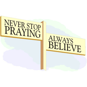 Never Stop Praying -- Free Christian Clipart