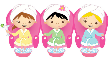 New Spa Party clip art is .