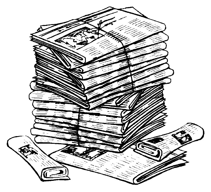 Newspaper Clipart 6   Clipart Panda - Free Clipart Images regarding Newspaper  Clip Art 19852