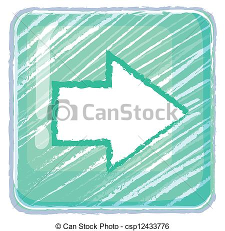 A next button icon drawing - csp12433776