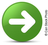 Next arrow icon soft green round button