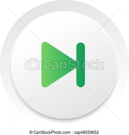 Simple Ui Music Interface Circle Next Button Vector
