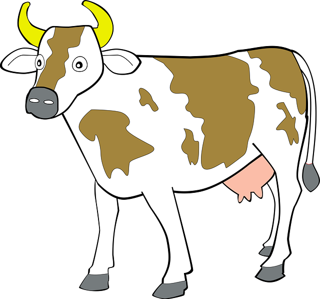 nice cow clip art for use .