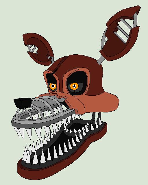 Nightmare Foxy Simple Draw by blizzardblast101 ClipartLook.com
