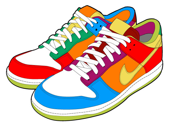 Nike Running Shoes Clipart Clipart Panda Free Clipart Images