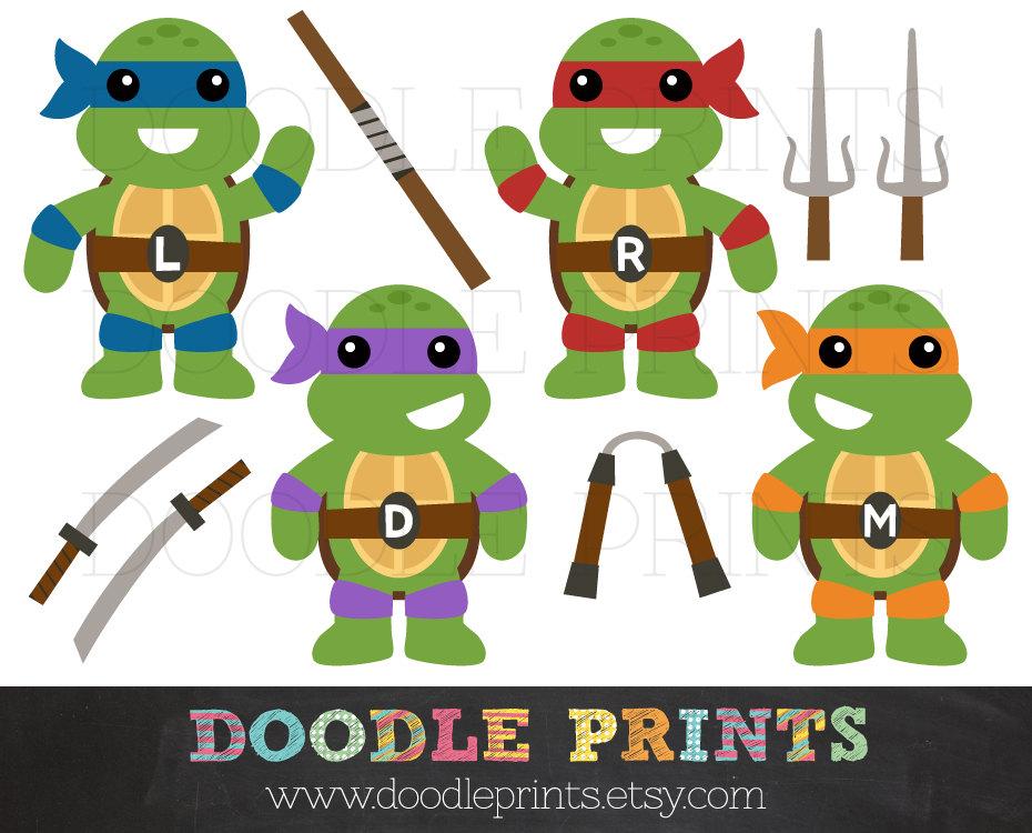 Ninja turtles clip art - .