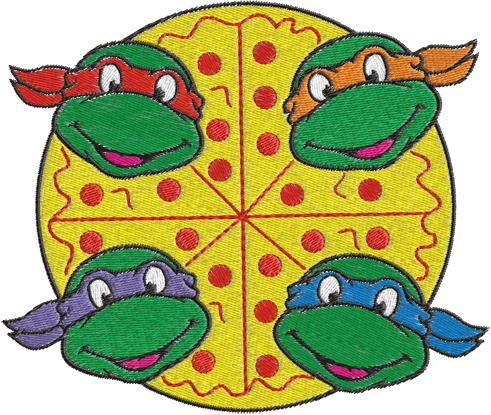 Ninja Turtles Machine Embroidery Design 0259