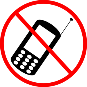 no cell phone clipart