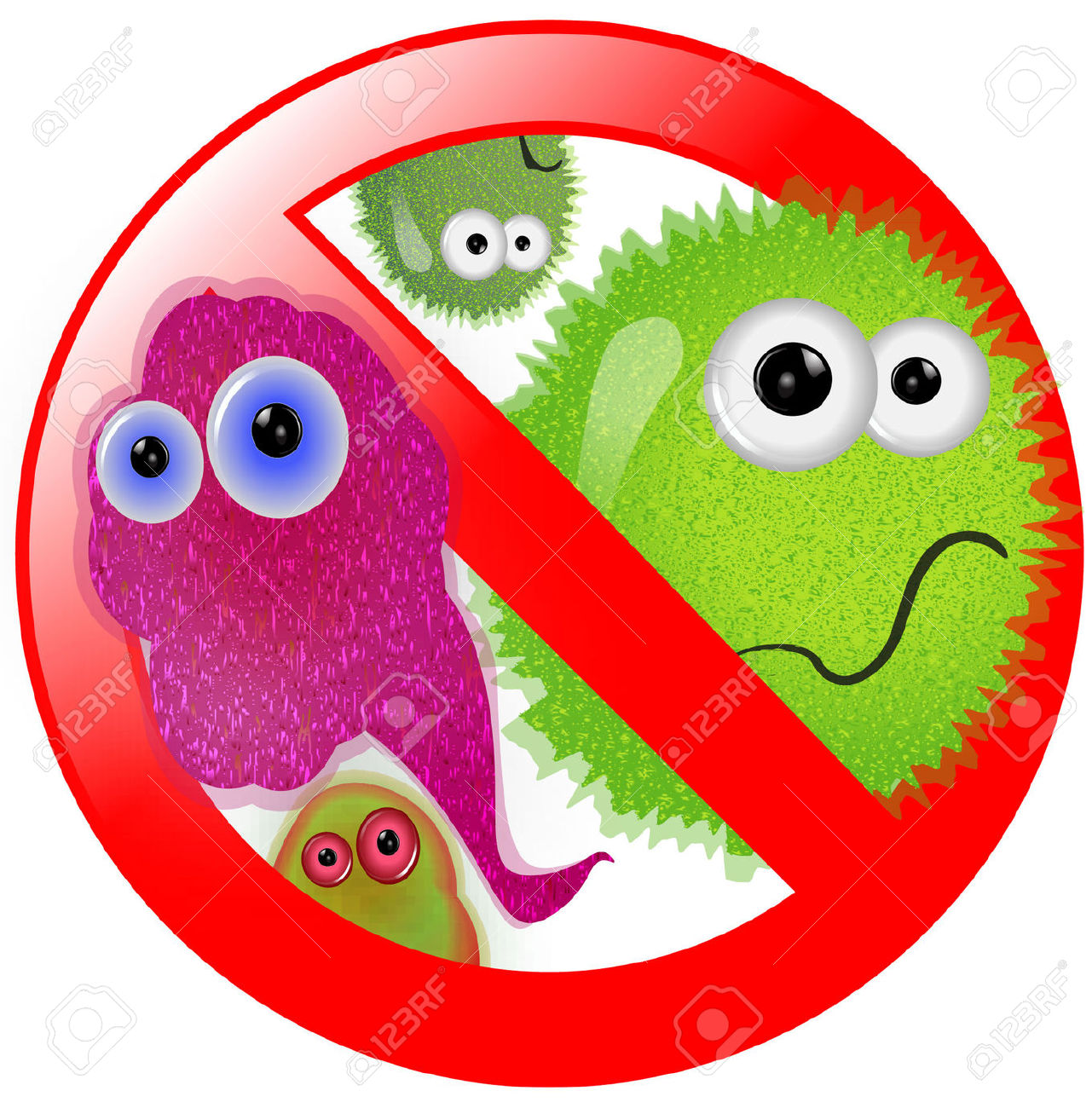 No Germs Clipart #1