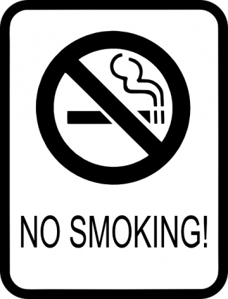 No smoking signs clipart clipartall