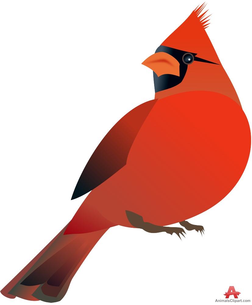 Northern red cardinal bird free clipart design download