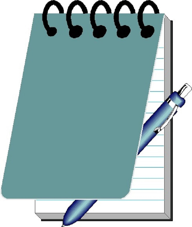 ... Notepad And Pen Clipart ...