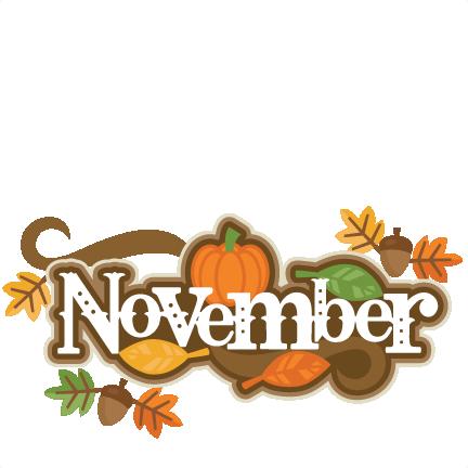 November Clip Art Borders