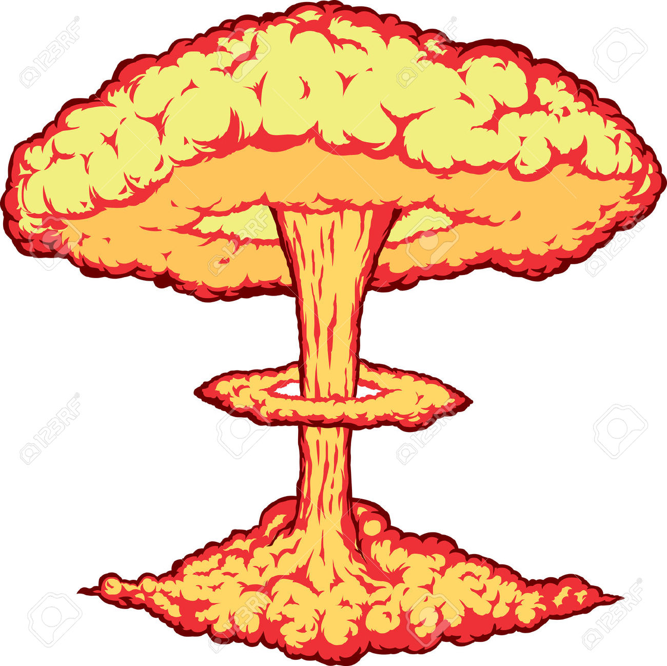 Nuclear explosion clipart