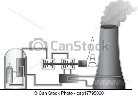 ... Nuclear Power Plant - Illustration of the Nuclear Power.