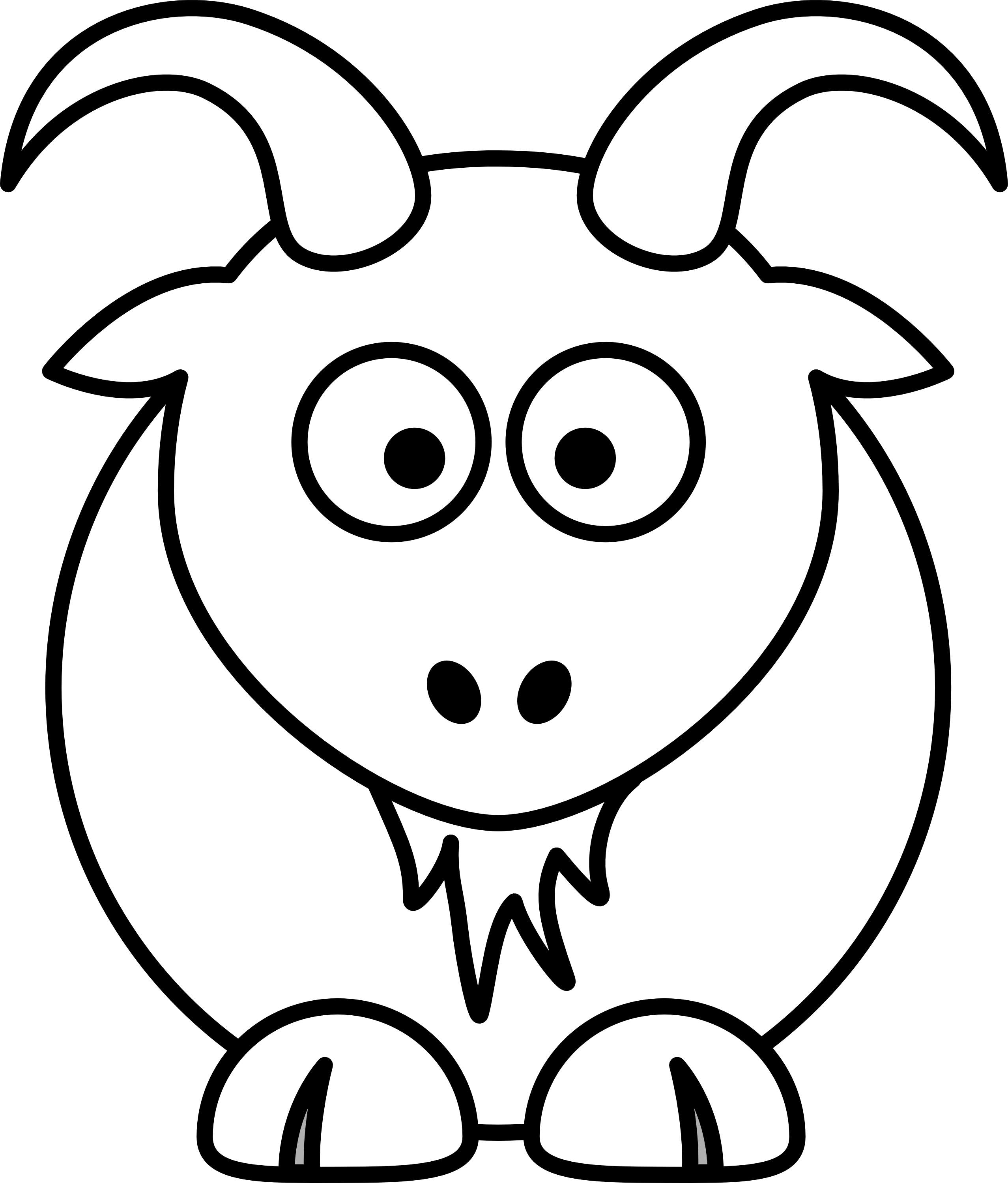 number one clipart black and white