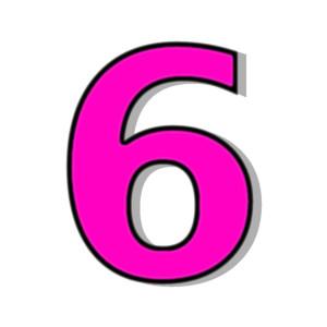 Number 6 Black Clipart. 6