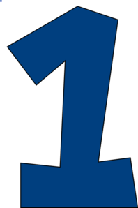Number One (muted Blue) Clip Art