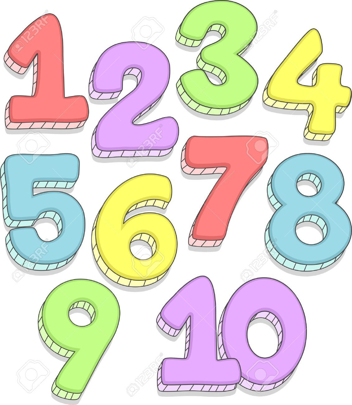 Cartoon Numbers 1-10 | . ClipartLook.com -the-Numbers-1-