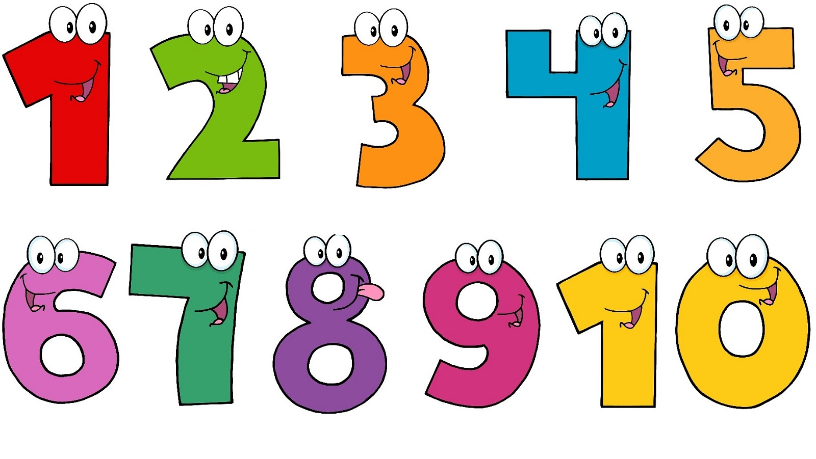 Clipart Of Numbers 1 10 Hd Letters