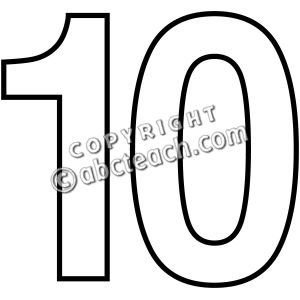 11 Number Clipart Black And White Preview Numbers Illustrat Hdclipartall