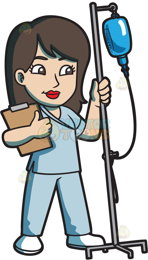 Long Hair clipart black nurse #9