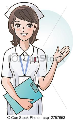 Young Cute Cartoon Nurse Providing Vector