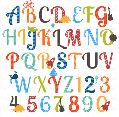 Nursery Alphabet Letters .